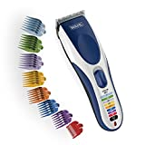 Wahl Color Pro Cordless Rechargeable Hair Clippers, Hair trimmers, 21 pieces Hair Cutting Kit, Color Coded guide combs For Women, Men, Kids and Babies By The Brand used by Professionals. #9649