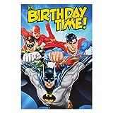 Justice League Birthday Card Batman Superman Flash Green Lantern