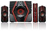 AVerMedia Ballista Trinity Gaming PC Speakers, 2.1 Sound System Speakers, 77 Watts, 3 Way Satellite Speakers (GS315)