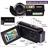 Video Camcorder, Besteker Portable HD 1080p IR Night Vision with WIFI Max.20.0 MP Enhanced Digital Camera Camcorders DV 3.0 TFT LCD Rotation Touch Screen