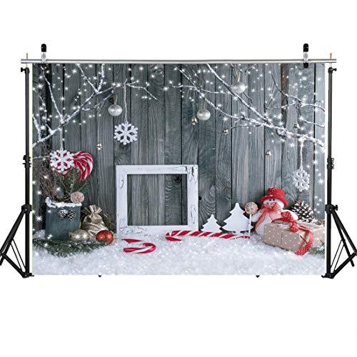SJOLOON Christmas Backdrop 7×5 8x6ft