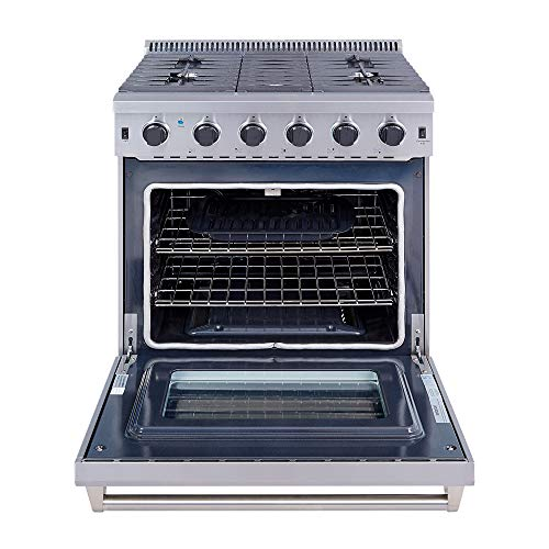 Thor Kitchen 30' Stainless Steel Gas Range Oven with 5 Burner LRG3001U
