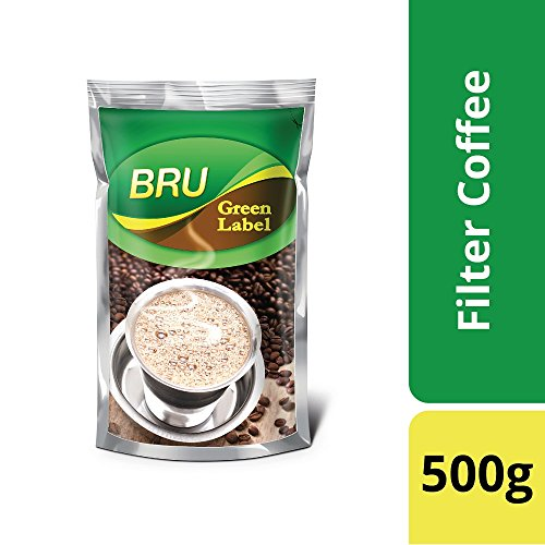 51CCaKfaNmL - Bru Green Label Filter Coffee - Ground & Roast, 500 g