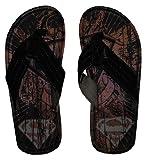 DC Comics Superman Logo Tattoo Superhero Flip Flop Sandals | M