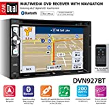 Dual Electronics DVN927BT Digital Multimedia 6.2-inch LED Backlit LCD Touchscreen Double DIN Car Stereo Receiver with Built-In Navigation, Bluetooth, CD/DVD, USB, microSD & MP3 Player