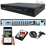 Sikker 16 Ch Channel Surveillance CCTV DVR Security System Full 960H D1 HDMI 2TB