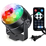Sound Activated Party Lights with Remote Control Dj Lighting, RBG Disco Ball, Strobe Lamp 7 Modes Stage Par Light for Home Room Dance Parties Birthday DJ Bar Karaoke Xmas Wedding Show Club Pub