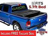 Gator ETX Soft Tri-Fold Truck Bed Tonneau Cover | 59421 | fits Dodge Ram 2019 (5 ft 7 in bed) - does not fit RamBox, New Body Style
