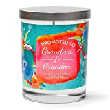 Cedar Crate Market Promoted to Grandma and Grandpa, Citrus, Lavender, Woody, Scented Soy Candles, 10 Oz Jar Candle, Grandma to Be Gifts,  New Grandma Gifts, Pregnancy Announcement for Grandparents