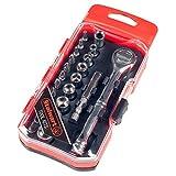 Stalwart 75-HT4023B Ratchet, Metric Socket and Bit Set (23 Piece)