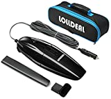 [Updated]Car Vacuum, LOLLDEAL 12V 75W Black Car Vacuum Cleaner Super Mini Portable hand-held Automotive/Auto Vacuums Hand Car Cleaner with 14.8 FT(4.5M) Power Cord with Carrying Bag