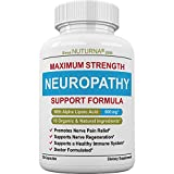 Neuropathy Support Supplement - Nerve Pain Relief Support with 600 mg Alpha Lipoic Acid Daily Dose - Diabetic Peripheral Neuropathy - Feet Hand Legs - Maximum Strength Nerve Repair Formula - 120 Pack