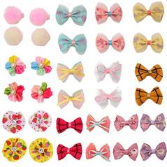 pony-princess-Dog-Bows-Hair-Accessories-with-Clip-Pet-Grooming-Products-Puppy-Small-Bowknot-Handmade-Mix-Styles-Small-Middle-Hair-Bows-Topknot-32PCS16Pairs