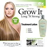 Want Longer Hair? Want Stronger Hair? Grow Hair Fast! Buy Long 'N Strong Treatment Lotion - Longer, Thicker Hair! - Split End Repair - Split end treatment 240 ML