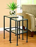 Product review for Coaster 901073 2-Piece Nesting Table Set, Glass and Black Metal