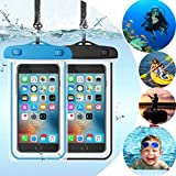 Topwey Universal Waterproof Case Waterproof Phone Pouch - Cellphone Dry Bag Compatible for iPhone Xs Max/XR/X/8/8P/7/7P Galaxy up to 6.5',Protective Pouch for Kayaking Swimming Surfing- 2 Pack