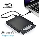 External Blu Ray DVD Player Drive,VikTck USB 2.0 Disc Burner Reader Slim BD CD DVD RW ROM Writer for PC Mac Windows 7 8 10 XP Linxus