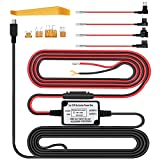Dash Cam Hardwire Kit Micro USB 10ft 12V-24V to 5V, Low Voltage Protection Mini/ACS/ATO Add a Circuit Fuse Holders Compatible Dash Cam, GPS, Radar Detector All Other Micro USB Device