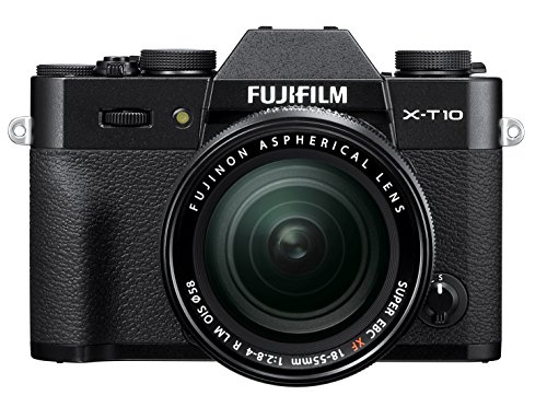 Fujifilm X-T10 Black Mirrorless Digital Camera Kit with XF18-55mm F2.8-4.0 R LM OIS Lens