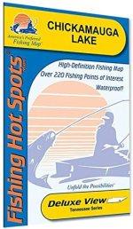 Chickamauga Lake Detailed Fishing Map, GPS Points, Waterproof #A402