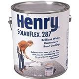 HENRY HE287SF046 Solar-Flex, Gallon, White, Elastomeric Roof Coating
