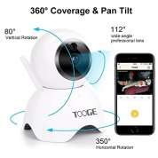 Pet-Camera-WiFi-by-TOOGE-Wireless-Security-Camera-IP-720P-Pan-Tilt-with-APP-Night-Vision-2-Way-Audio-and-Motion-Detection