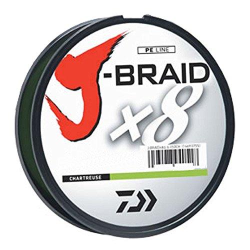Daiwa J-Braid 150M 8-Strand Woven Round Braid Line, Chartreuse, 40 lb
