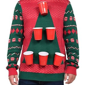 Men's Beer Pong Game Christmas Sweater – Funny Ugly Christmas Sweater