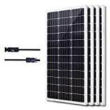 KOMAES Solar 400W Monocrystalline Solar Panel 12V Charger with MC4 Connector for Deep Cycle Battery, Perfect for Residential, Industrial, RV, Boat, Camping, Off Grid Installation
