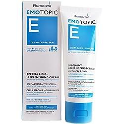 Eczema Dermatitis & Dry Skin Moisturizer, Newborns to Adults, Lipid Replenishing Cream, Face & Body, Fragrance-Preservative-Paraben Free, by Pharmaceris, 75ml