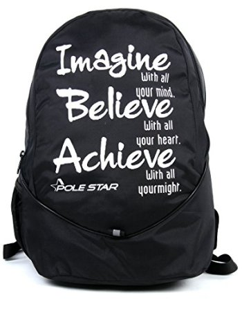 Black Lite weight Casual Backpack