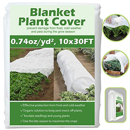 Valibe Plant Covers Freeze Protection 10 ft x 30 ft Floating Row Cover Garden Fabric Plant Cover for Winter Frost Protection Sun Pest Protection (10FT X 30FT) ...