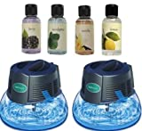 2 New Rainbow Rainmate IL Air Freshener Purifier Room Aromatizer w/ 4 Fragrances