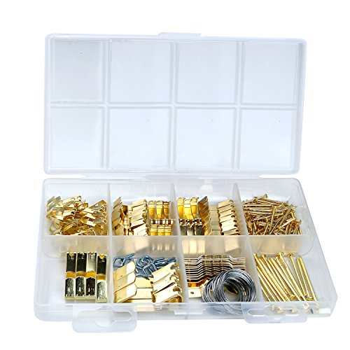 Picture Hanging Kit Includes Hooks, Nails, Sawtooth Hangers, Frames,and Picture Hanging Wire 200pcs