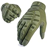 AXBXCX Tactical Gloves Army Full Finger Outdoor Gloves for Airsoft Paintball Hunting Hiking Military ATV Hunting Shooting Motorbike Motorcycle Riding Driving Work Gear Green XL