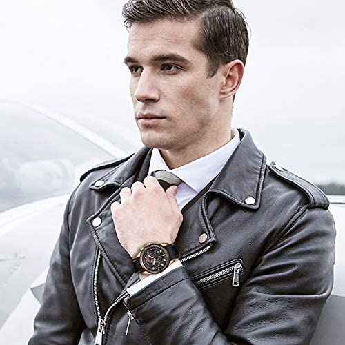 Lige Men's Watch Fashion Waterproof Silica Gel Chronograph Luxury Business Analog Quartz Watches Classic Black Belt Date Calendar Watch 3