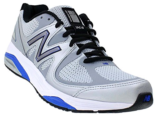 New Balance Men's M1540V2 Running Shoe, Silver/Blue, 11.5 2E US