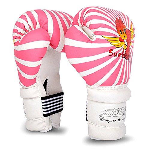 Cheerwing 6oz PU Kids Boxing Gloves Junior Cartoon Punch Bag MMA Sparring Dajn Training, Pink
