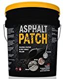 ASPHALT PATCH & POTHOLE FILLER 56 lb Pail | Pothole Repair Kit | Driveway Patch | Paving Patch - 5 Gallon Pail
