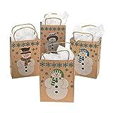 Medium Paper Snowman Gift Bags
