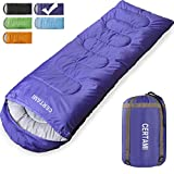 CER TAMI Sleeping Bag for Adults, Girls & Boys, Lightweight Waterproof Compact, Great for 4 Season Warm & Cold Weather, Perfect for Outdoor Backpacking, Camping, Hiking. (Purple/Right Zip)
