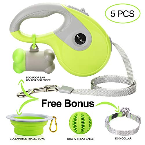 Nunbell Retractable Dog Leash,Heavy Duty 16ft Retracting Pet Leash with Free Bag...