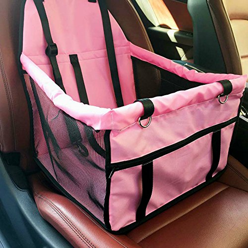 HIPPIH Car Pet Collapsible Package Mesh Sided Travel Cars Booster Seats
