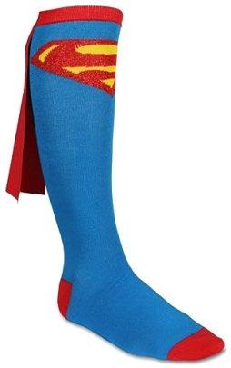 Superman Juniors Cape Socks, Blue, One Size