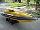 32' Yellow High Performance Majesty 800S Radio Remote Control Electric EP RC Racing Speed Boat RC RTR