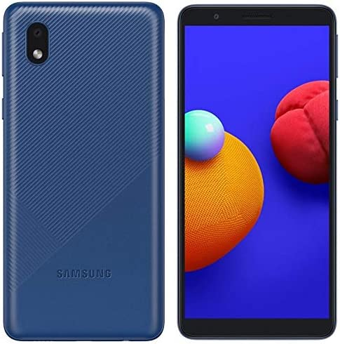 Samsung Galaxy A01 Core (16GB, 1GB RAM) 5.3″, 3000mAh Battery, US & Global 4G LTE GSM Unlocked International Model – A013M/DS (Blue)