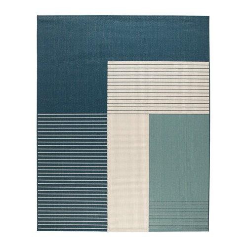 Ikea Rug, flatwoven, indoor/outdoor green-blue 6 ' 7 'x8 ' 2 ' 1428.885.226