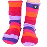Polar Feet Kids' Non-slip Fleece Socks (XL (Kids' 1-3), Jellybean)