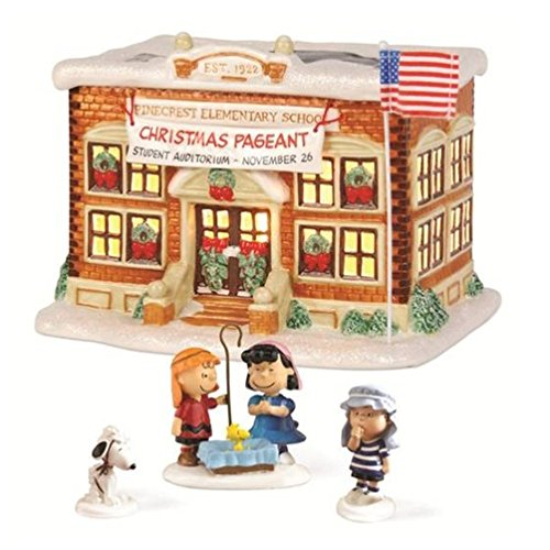 Department 56 Peanuts Village School Pageant Lit House Set