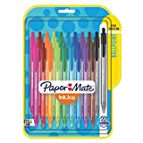 Paper Mate InkJoy 100RT Retractable Ballpoint Pens, Medium Point, Assorted, 20 Pack (1951396)
